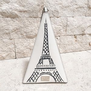 Kate Spade Eiffel Tower Triangle Clutch in Cement